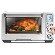 the smart oven air in brushed stainless steel with 4 slice toasting capacity