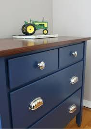 Navy Blue Dresser Bedroom Furniture Navy Blue Dresser With Wood Stained Top Paint Navy Blue Dresser