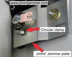 the photo to the left shows a jimmi jammer plate mounted inside the door the plate surrounds the lock cylinder toward the left of the photo