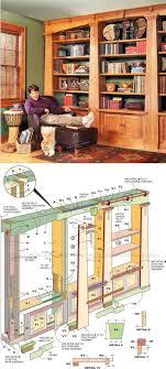 built office furniture plans. Mission Oak Built-In Bookcase Plans - Furniture And Projects | WoodArchivist.com Built Office
