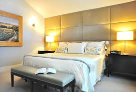 image of best fabric wall panels for bedroom with benches
