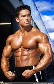 Asian male body builder