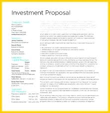 Investment Plan Templates Investment Proposition Template