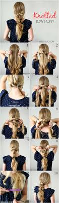 Easy Hairstyles On The Go Best 20 Knotted Ponytail Ideas On Pinterest Work Hairstyles In
