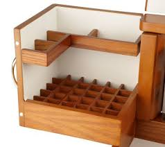 makeup organizer wood. luxury deluxe wood cosmetic box w/mirror by lori greiner - page 1 \u2014 qvc.com makeup organizer h