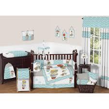 sweet jojo designs balloon buds 9 piece crib bedding set jpg