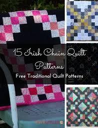 15 Irish Chain Quilt Patterns (Free Tutorials) | FaveQuilts.com & Irish Chain Quilt Patterns Free Traditional Quilt Patterns Adamdwight.com