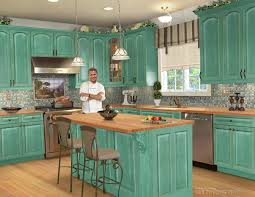Rustic Cabin Kitchen Cabinets Rustic Turquoise Kitchen Cabinets Quicuacom