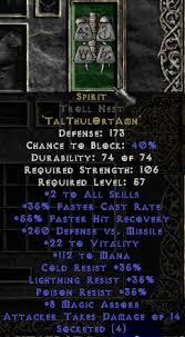 beast runeword spirit diablo wiki
