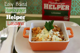 easy baked hamburger helper lasagna