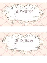 Free Printable Gift Certificates Template Free Printable Gift Certificates Certificate Template Customize