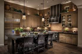 dark cabinets and dark granite