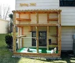outdoor cat enclosure plans free enclosures small home ideas outside diy uk