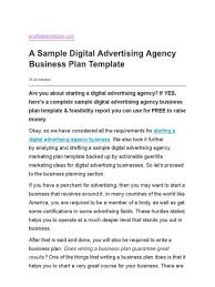 Advertising Plan Pdf Sample Advertising Plan Major Magdalene Project Org