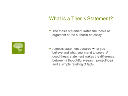 how to write a thesis statment 2 what is a thesis statement