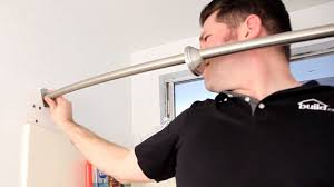 permanent shower curtain rod how to install a curved build com you 29