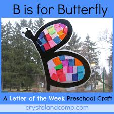 B is for butterfly preschool craft 1 crystaland p