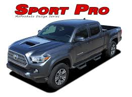 2018 toyota tacoma colors. plain 2018 sport pro  2015 2016 2017 2018 toyota tacoma trd sport and pro hood  blackout vinyl graphic stripes decal kit mpds4831 to toyota tacoma colors
