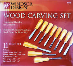 Windsor Design Chisels Wood Carving Set 11 Pc Hardwood Handles Hardened Chrome Vanadium Steel Points