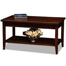 leick lau small solid wood coffee table in chocolate cherry