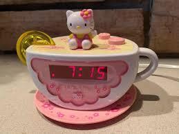 Hello Kitty Digital Am Fm Clock Radio With Night Light Hello Kitty Tea Cup Digital Am Fm Alarm Clock Radio Night Light Hk155 Euc