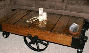 Mill Cart Coffee Table Diy Industrial Cart Coffee Table Coffee Table