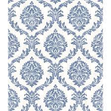 Brewster Saint Malo Blue Damask Blue ...
