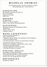 Sample College Resumes For High School Seniors