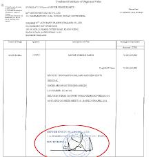 Official Document Discrepancies   Certificate Of Origin ...
