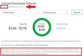 citizen developer salaries on glassdoor com