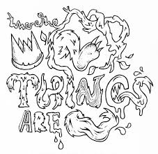 Small Picture Cool Where The Wild Things Are Coloring Pages On Book For In What