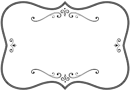 borders and frames picture frames black and white clip art white frame