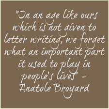 Quotes Letter Quotes The Handwritten Letter Appreciation Society