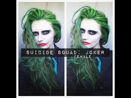 you to squad joker makeup hair female