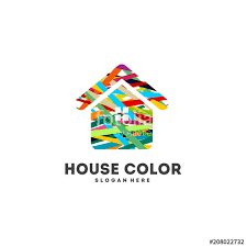 Painting And Decorating Logo Design Custom House Painting Logo Designs Concept Vector Abstract Home Decoration