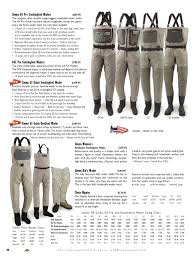 Simms Waders Size Chart The Fly Fish Shop 2014 By M H Issuu
