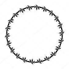 черный круг тату лавровый венок круг татуировки черный