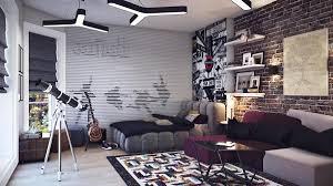 Purple Wallpaper Bedroom Brick Wallpaper Bedroom Ideas Home Design Ideas