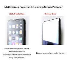 JOLOJO iPhone XR <b>Matte Screen Protector Tempered</b> Glass [Anti ...