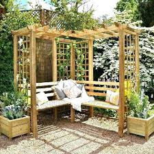 garden arbor ideas paa unique corner pergola on small diy wood designs garden arbor by diy outdoor featuring