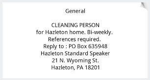 Cleaning Person Job Opportunities