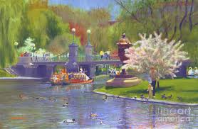 swan boats painting springtime swan boats by candace lovely
