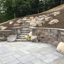 hardscape installation stone wall