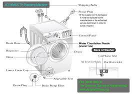 lg washing machine problems.  Machine LG WM2277H Washing Machine Layout Diagram And Lg Problems A