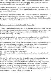 Partnership Agreement Between Companies Limited Liability Partnership Llp Form Of Business