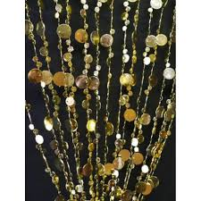 3 x 6 foot beaded curtain panels gold iridescent champagne bubble curtains pc38ab