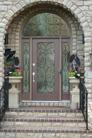 Outstanding Home Fiberglass Entry Door With Arched Style And ...