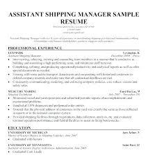 Warehouse Supervisor Cover Letter Example Sample Resume For Warehouse Manager Blaisewashere Com