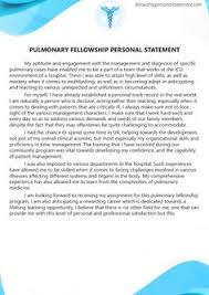 fellowship personal statement samples fellowshipps  pulmonary fellowship personal statement