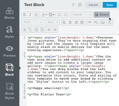 Style Template The Email Template Editor Klaviyo Help Center